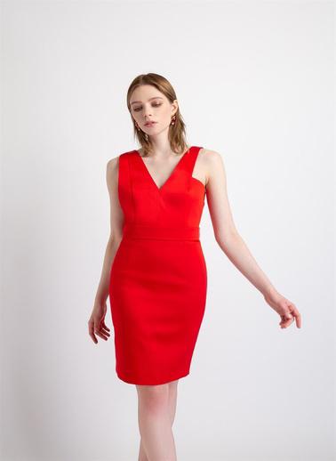 Rue Elbise Kırmızı